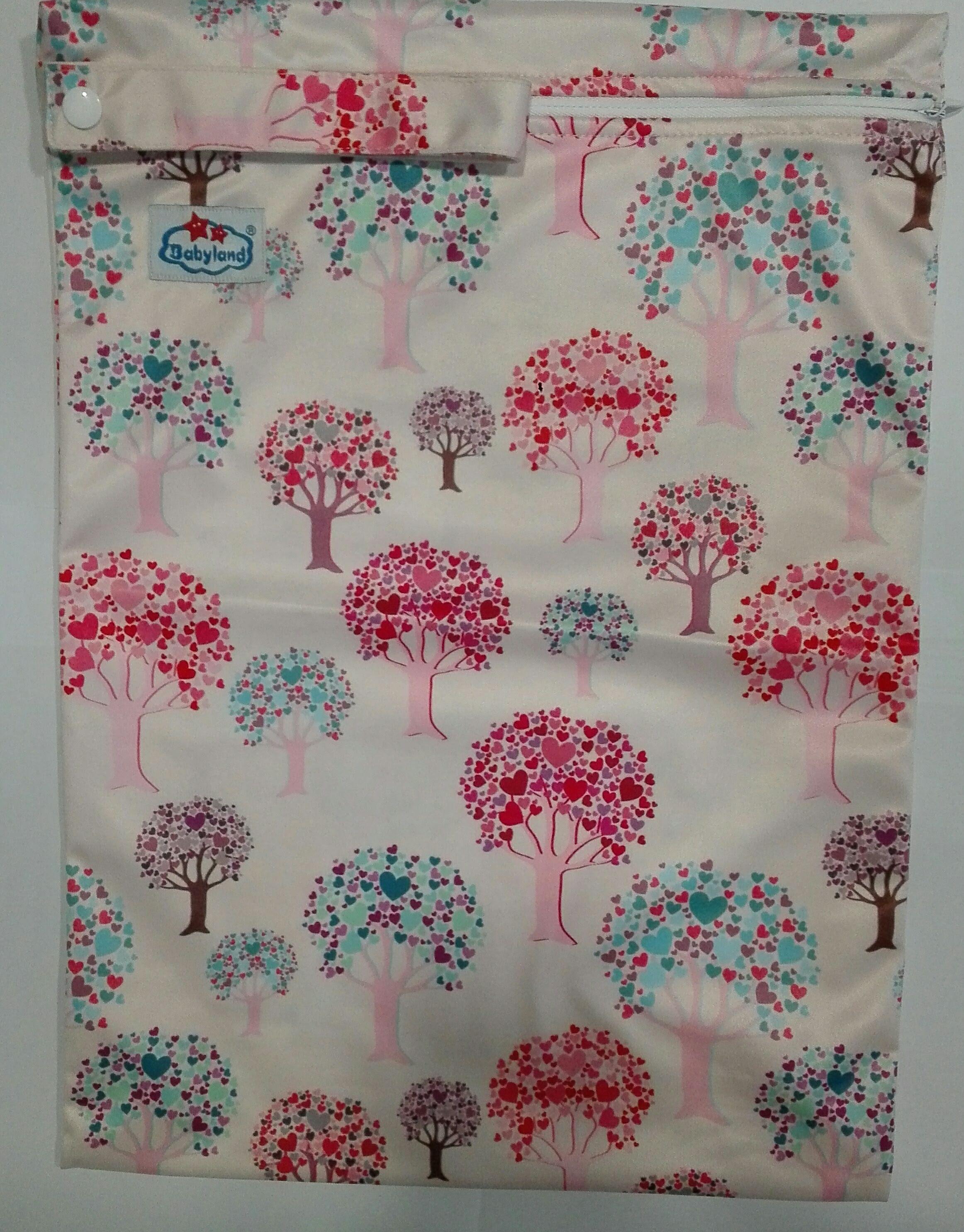 Сумочка для мокрых детских вещей   «Цветочные деревья»