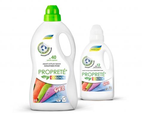 Рідкий засіб для прання Proprete Colour gel  , 1л (40прань)