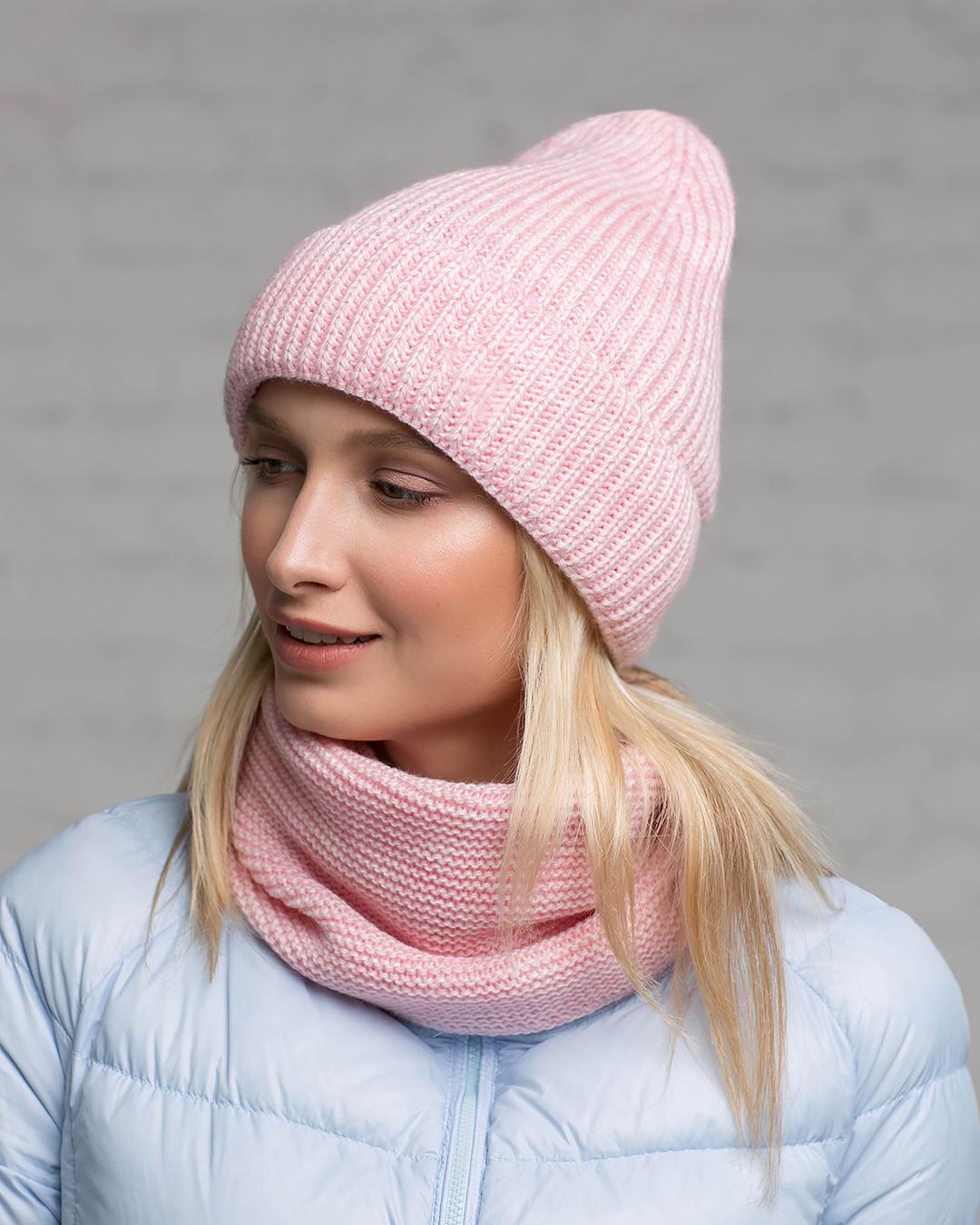 Комплект шапка і снуд
